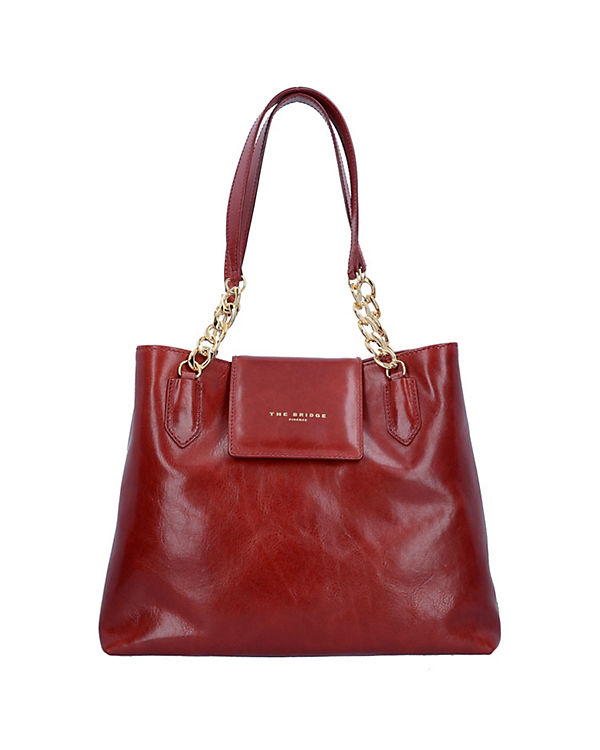 The Bridge The Bridge Candy Shopper Tasche Leder 36 cm rot