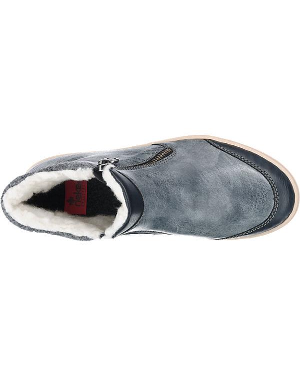 Billig Verkauf Beruf Billig Günstiger Preis rieker rieker Stiefel blau Rabatt Echt yRIL5