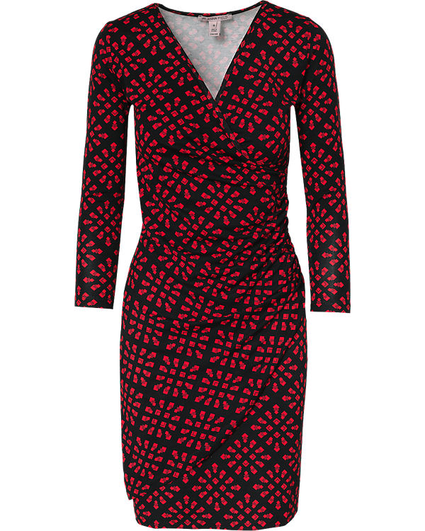 Anna Field Kleid schwarz/rot