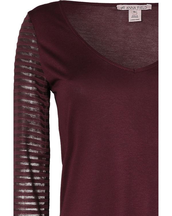 Anna Shirt bordeaux 3 4 Arm Field 8rw8Tqf
