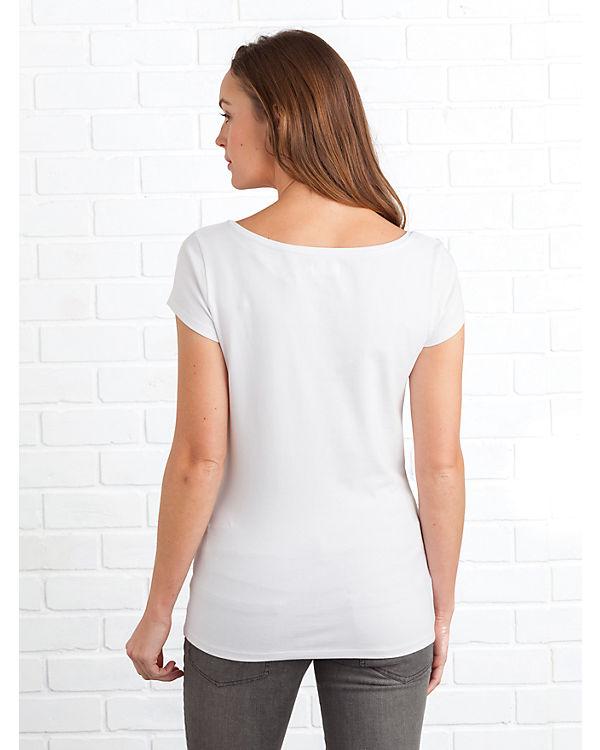 Colline Umstandsshirts Doppelpack weiß