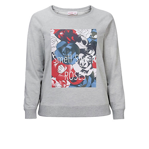 sheego Sweatshirt grau Damen Gr. 44/46