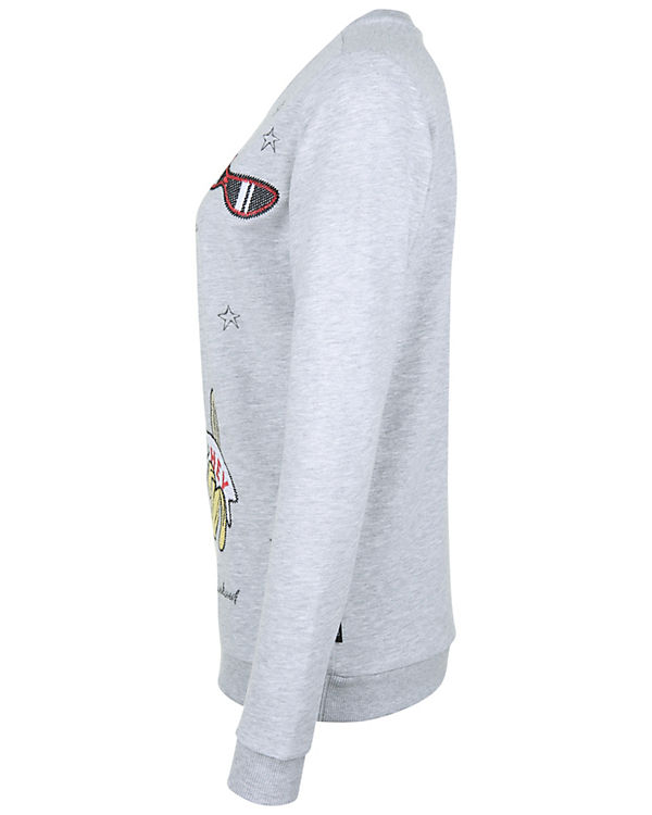 Sweatshirt CATWALK Hey grau Palm JUNKIE 5w47g
