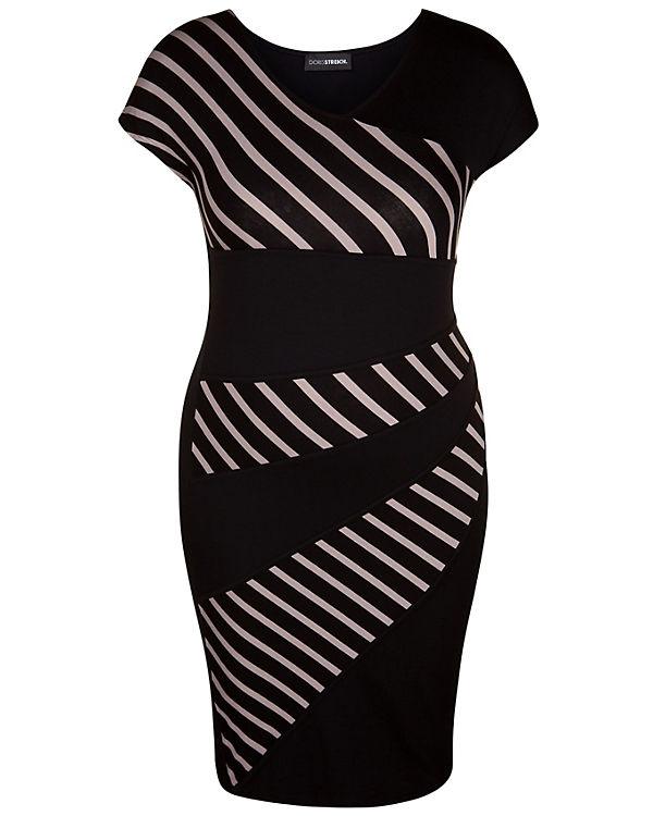 Doris Streich Jerseykleid schwarz-kombi