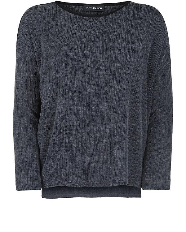 Shirt Streich Doris Arm 4 3 schwarz qAxF0
