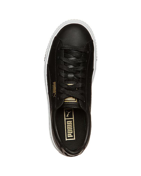 PUMA, PUMA Basket Platform Platform Platform Core Sneakers, schwarz e2507e