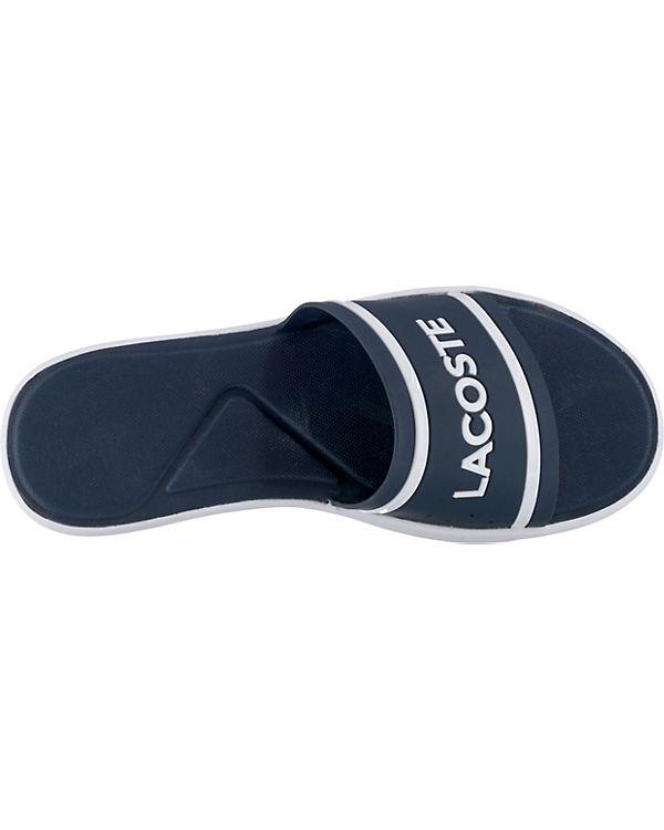 Caw LACOSTE 118 L 30 Pantoletten Slide blau LACOSTE 1 B1BYqzx