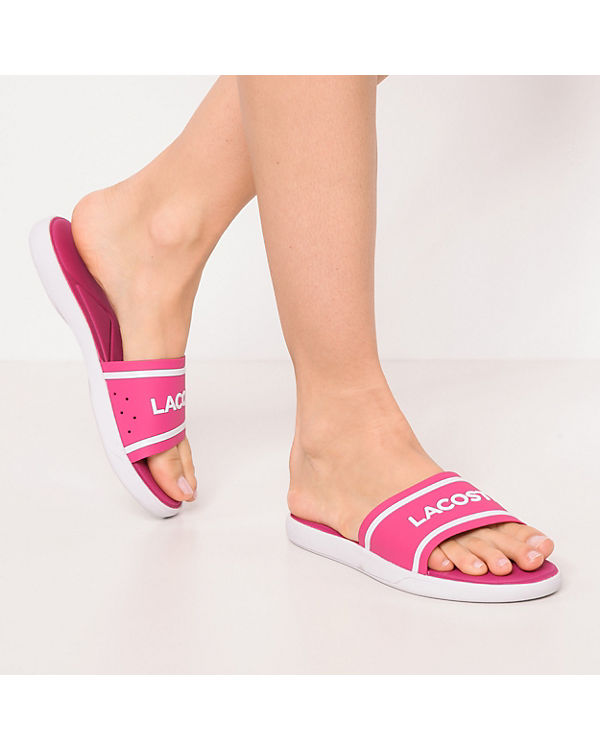 LACOSTE 2 Pantoletten Slide 30 118 LACOSTE Caw L pink gxFBgPR