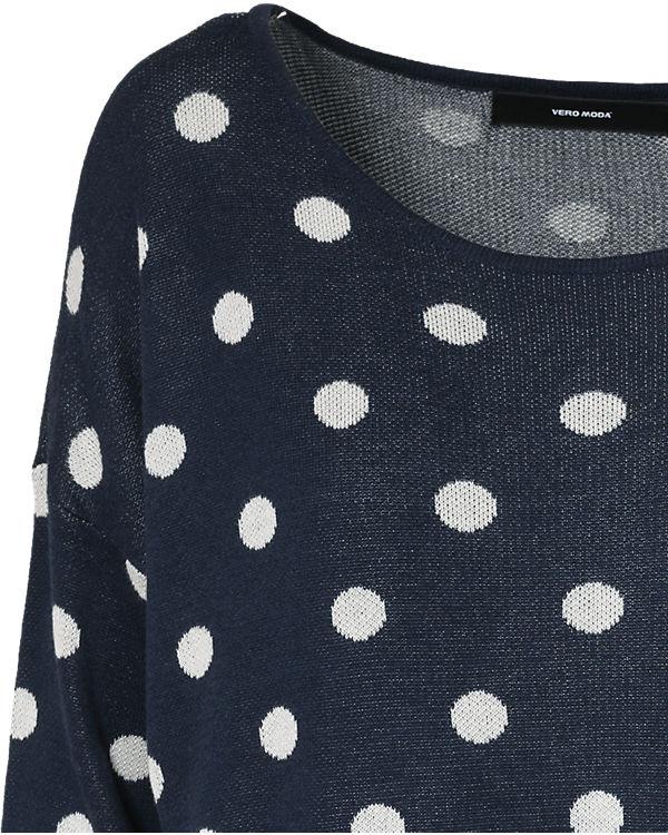 VERO MODA Pullover blau/weiß