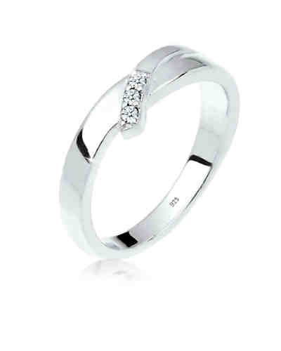 DIAMORE Ring Verlobung Trio Diamant 0.06 ct. 925 Silber ... 49bde32209