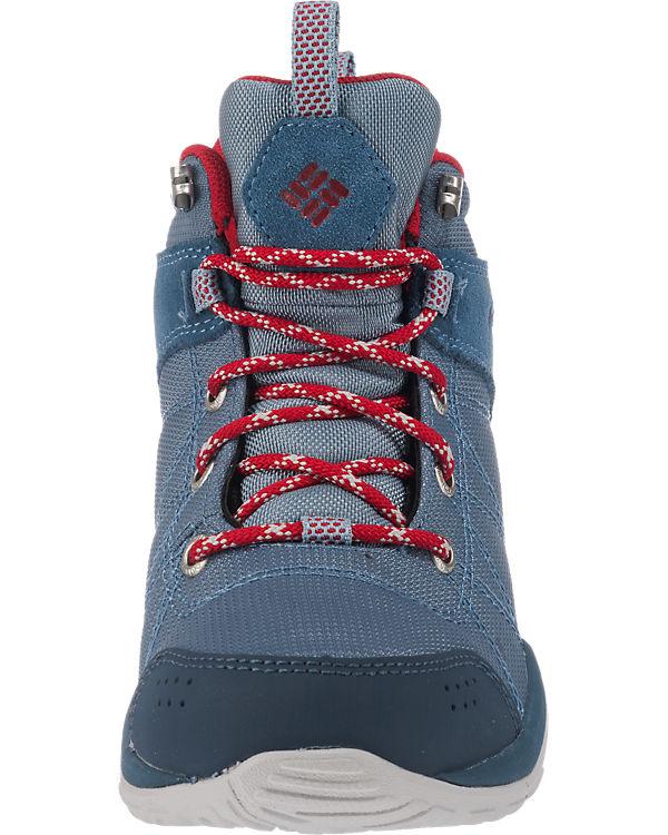 Venture Fire Columbia Textile Mid kombi blau Stiefeletten Tx47af4qw