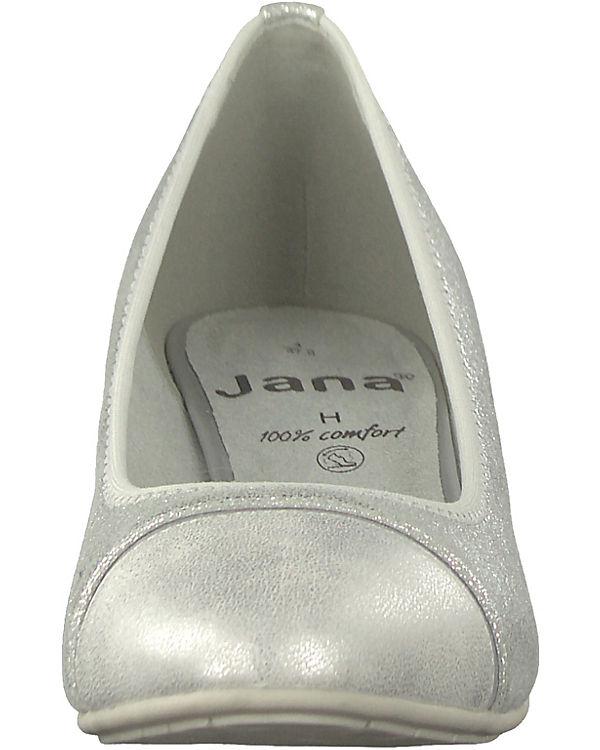 Komfort silber Pumps Jana Jana Komfort qwZOP8xZT