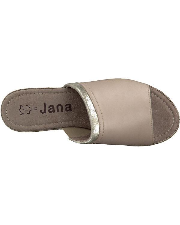 Jana Komfort-Pantoletten sand