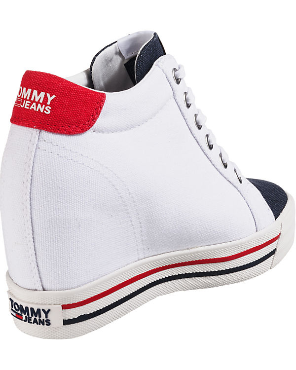 TOMMY High TOMMY Sneakers JEANS Wedge mehrfarbig Sneaker JEANS vZwwC85q