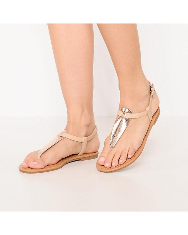 TOMMY Metallic Steg rosegold JEANS Sandalen Thong T Flat Sandal OO5T7qAHw