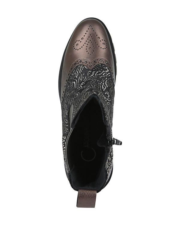 Donna Carolina BROKAT Chelsea Boots schwarz-kombi