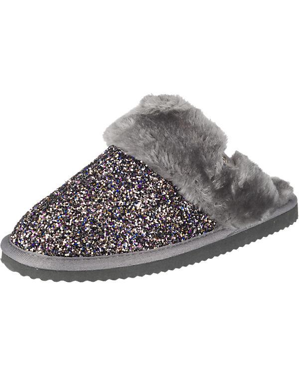 Hausschuhe glitter grau flip kombi flop cuddle w4qxCnvtx