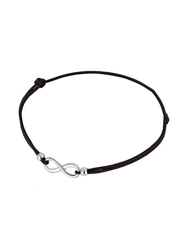 Elli Armband Infinity 925 Sterling Silber schwarz