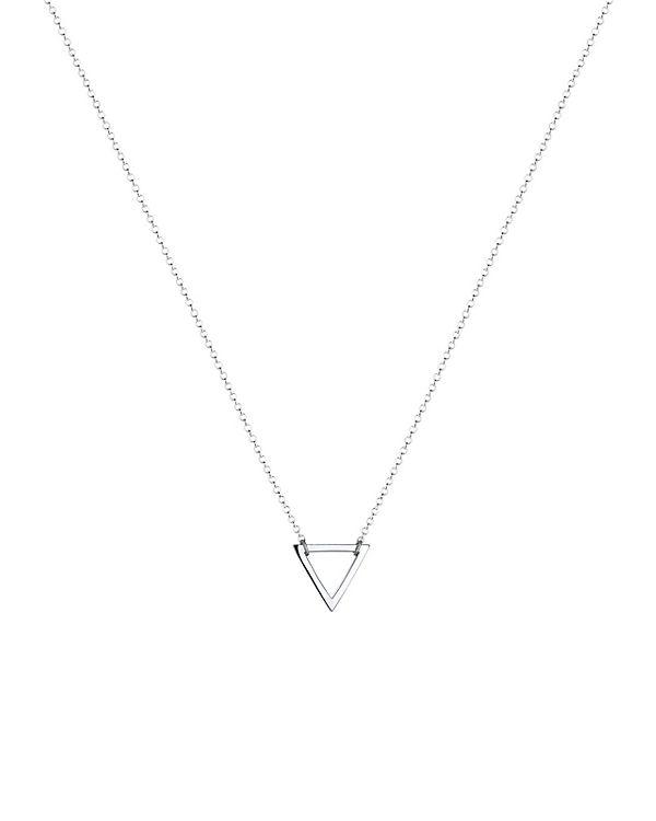 Elli Halskette Dreieck Geo Minimal 925 Sterling Silber silber