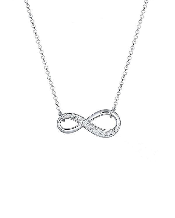 Elli Halskette Infinity Zirkonia 925 Sterling Silber silber
