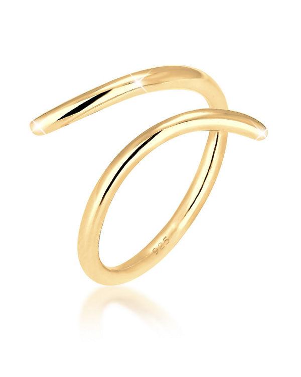 Elli Elli Ring Wickelring Blogger 925 Sterling Silber gold