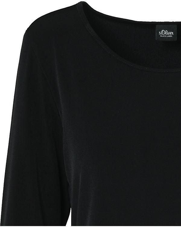 LABEL schwarz BLACK Oliver s Blusenshirt EqF4aOw