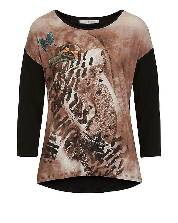Betty Barclay 3/4-Arm-Shirt schwarz/braun
