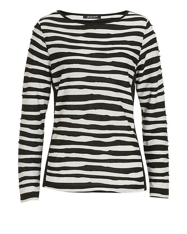 Betty Barclay Langarmshirt schwarz/weiß