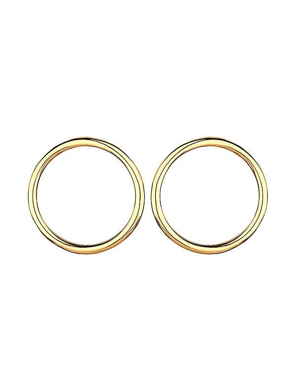 Elli Ohrringe Kreis Geo Trend Minimal Filigran 925 Silber gold