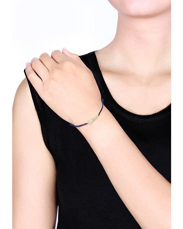 Elli Armband WIESN-Schriftzug 925 Sterling Silber gold