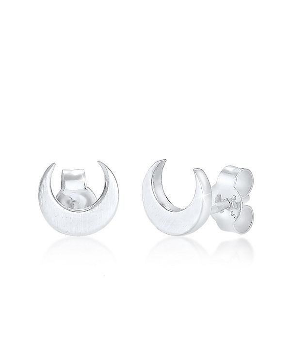 Elli Ohrringe Halbmond Luna 925 Sterling Silber silber