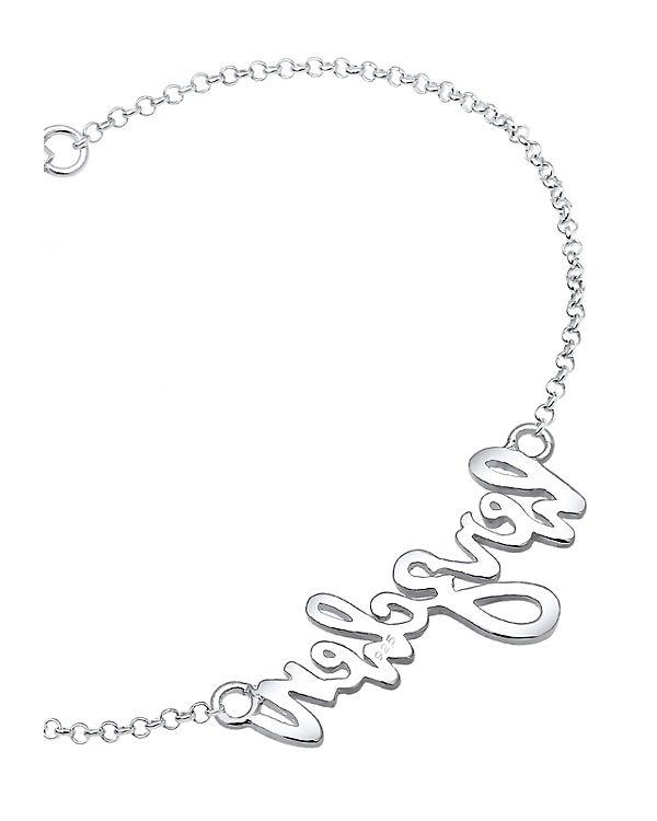 Elli Armband Herzchen Wording Oktoberfest Wiesn 925 Silber silber