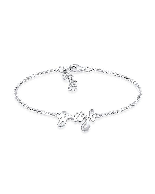 Elli Armband Spatzl Wording Trend Oktoberfest Wiesn 925 Silber silber