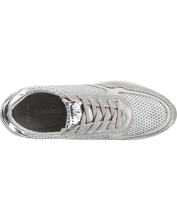MARCO MARCO Low TOZZI TOZZI Sneakers silber 6Bw5wqC
