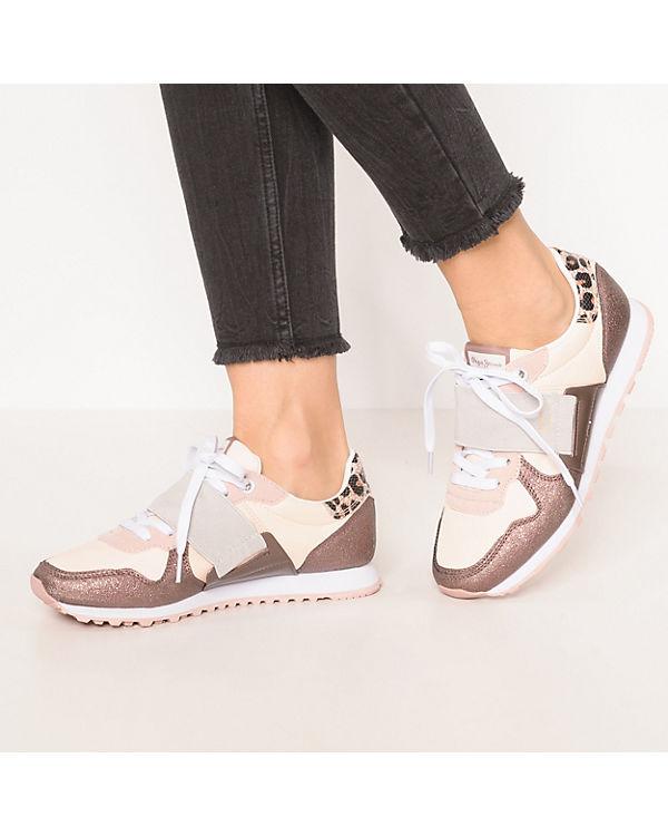 Pepe Jeans, Low, VERONA W ELASTIC Sneakers Low, Jeans, rosa 1d3b02