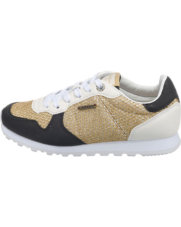 Low VERONA W Sneakers kombi gold Jeans MESH Pepe qzpxw7O8
