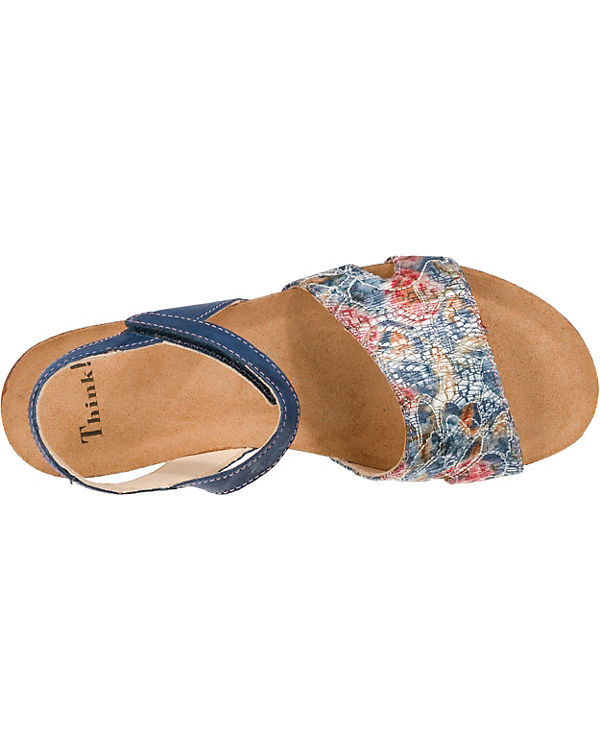 Sandalen Shik Think Komfort blau kombi 76T6wEAqR