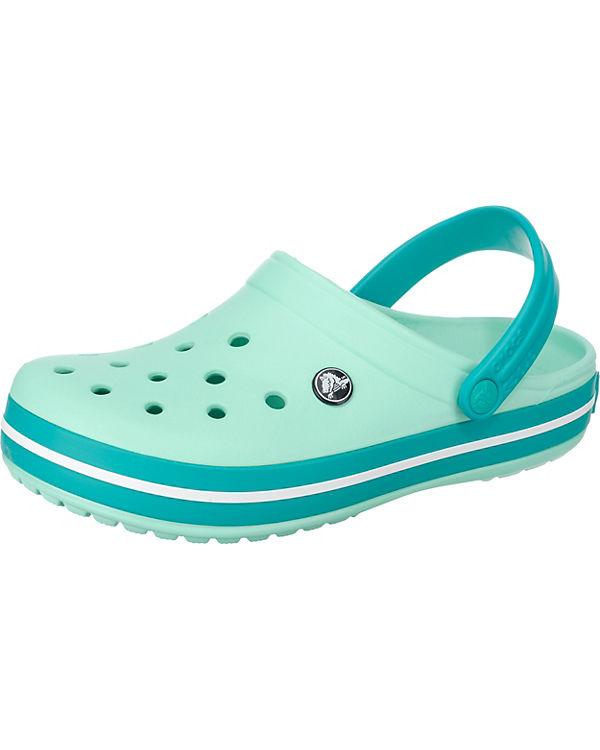 crocs Crocband Clogs gr眉n-kombi