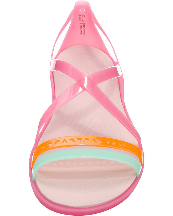 crocs Isabella Cut Strappy Sandal W Paradise Riemchensandalen pink