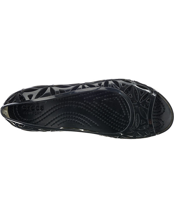 Jelly W Ballerinas schwarz II Komfort Isabella Flat crocs SwnR516qg