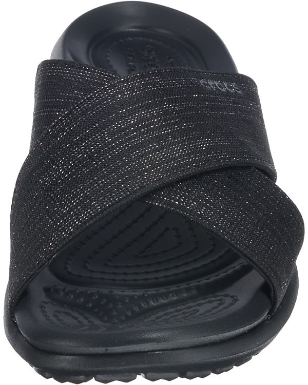 schwarz W Sandal Capri Xband Pantoletten crocs Shimmer Komfort q0BwxtSC