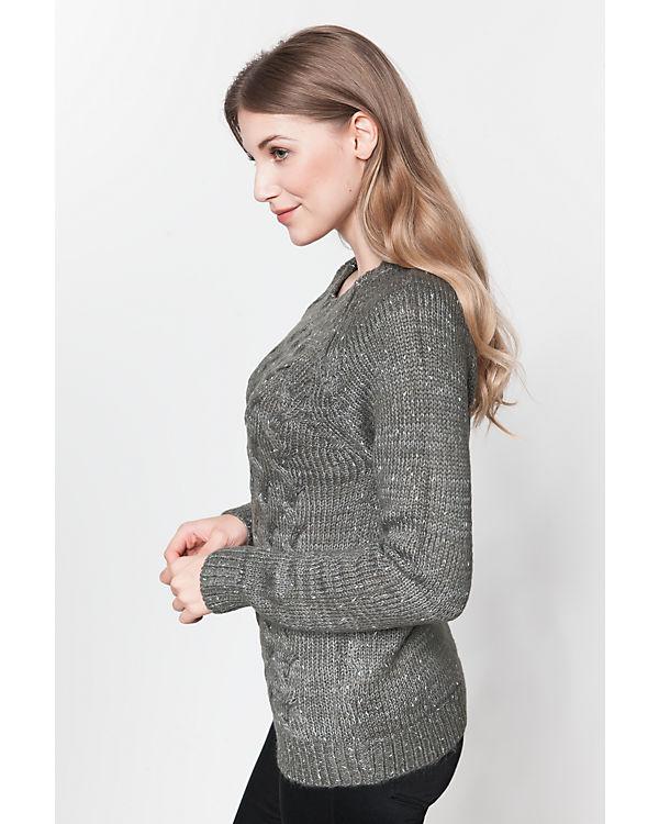 VERO MODA Pullover grau