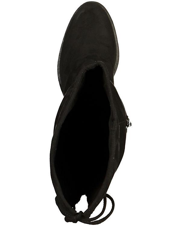 s.Oliver Overknee-Stiefel schwarz