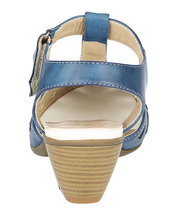 Mae&Mathilda T-Steg-Sandaletten blau