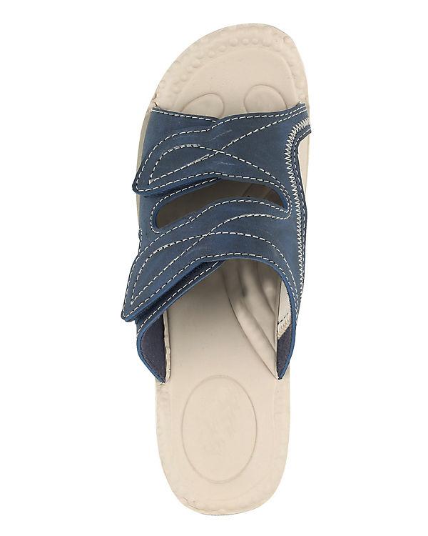 Mae amp;Mathilda amp;Mathilda blau Komfort Mae Pantoletten qzWPUUc8HZ