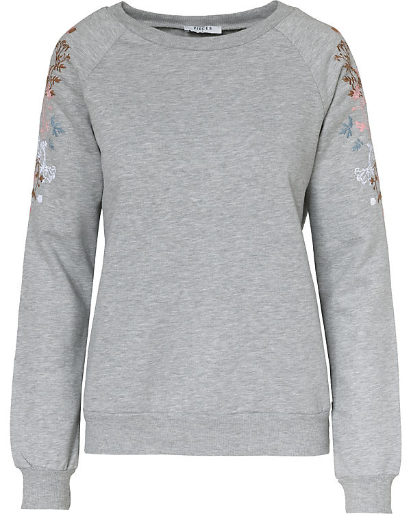 Sweatshirt grau pieces pieces Sweatshirt WEqw7Yq1