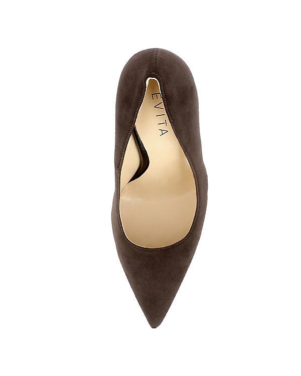 Shoes Evita Pumps DESIDERIA dunkelbraun Klassische 7dqxdUH