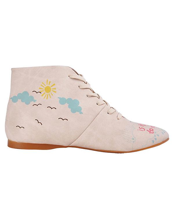 Dogo Shoes Schnürstiefeletten We love Rainy days mehrfarbig