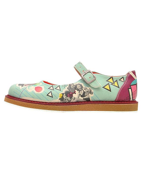 Dogo Shoes Offene Halbschuhe I'm always on vacation mehrfarbig