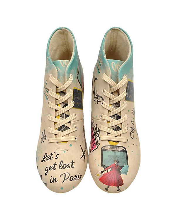 Dogo Shoes Schnürstiefel Let's get lost in Paris mehrfarbig